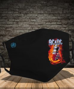 ACDC guitar fire full printing face mask 1