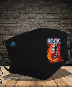ACDC guitar fire full printing face mask