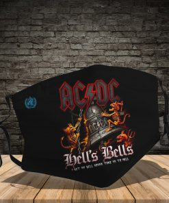 ACDC hells bells full printing face mask 1