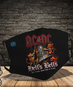 ACDC hells bells full printing face mask