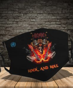 ACDC rock and roll full printing face mask 1