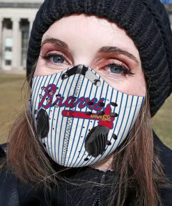 Atlanta braves filter activated carbon face mask 1
