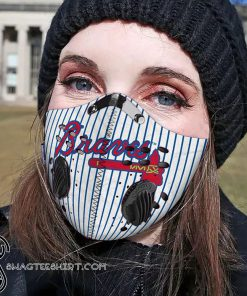 Atlanta braves filter activated carbon face mask