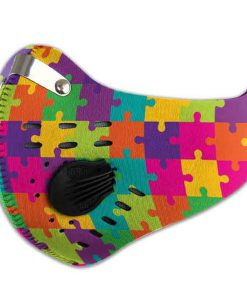 Autism awareness filter carbon pm 2,5 face mask 1