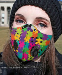 Autism awareness filter carbon pm 2,5 face mask