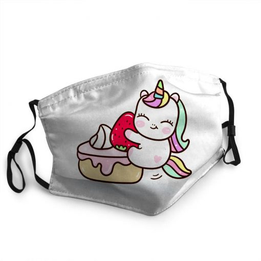 Baby unicorn with cupcake anti-dust face mask 1