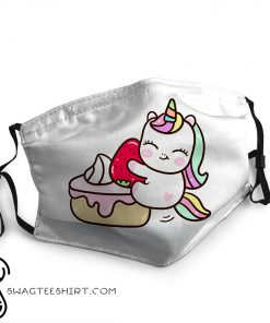 Baby unicorn with cupcake anti-dust face mask