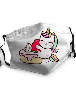 Baby unicorn with cupcake anti-dust face mask 4