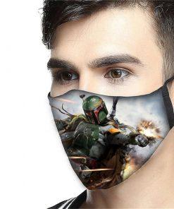 Boba fett anti-dust cotton face mask 2