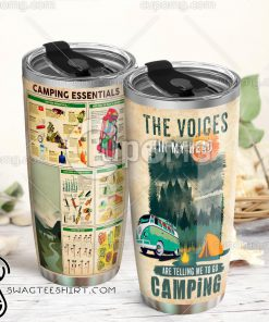 Camping knowledge full over print tumbler