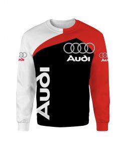 Car audi logo full over print sweatshirt