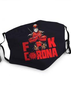 Deadpool fuck corona anti-dust face mask 2