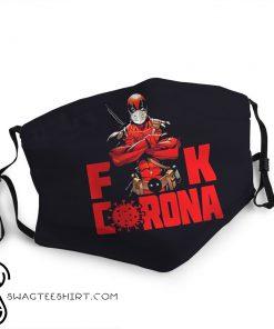 Deadpool fuck corona anti-dust face mask