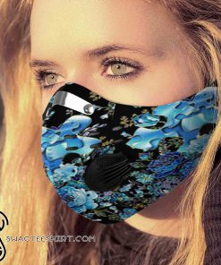 Flower autism awareness filter carbon pm 2,5 face mask