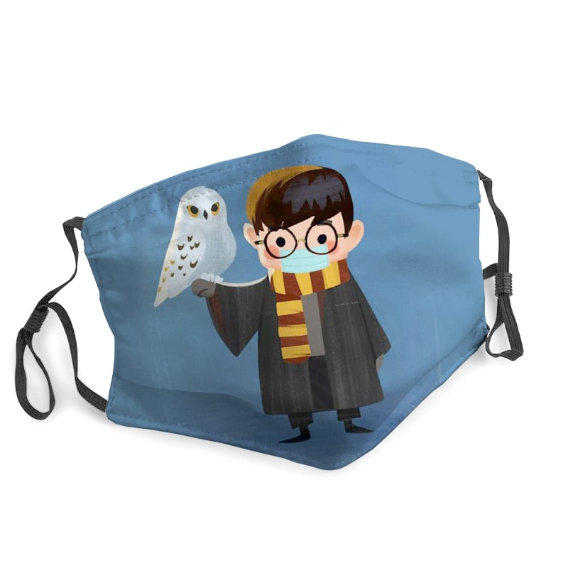 Harry potter owl hedwig stay home face mask 1