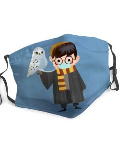 Harry potter owl hedwig stay home face mask 3