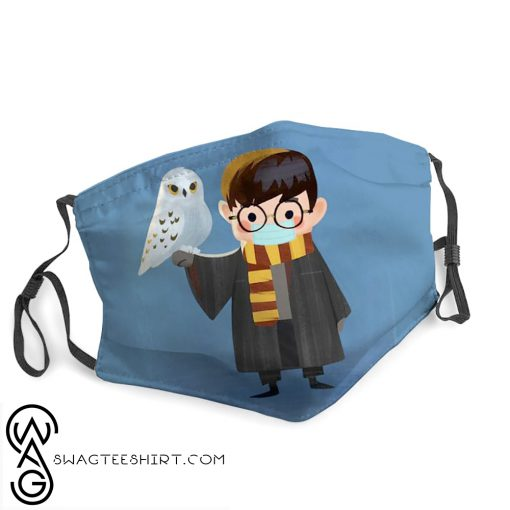 Harry potter owl hedwig stay home face mask