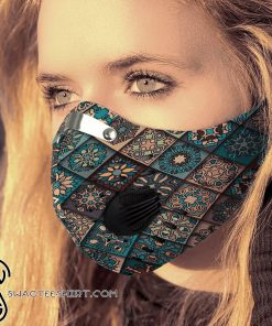 Hippie pattern carbon pm 2,5 face mask