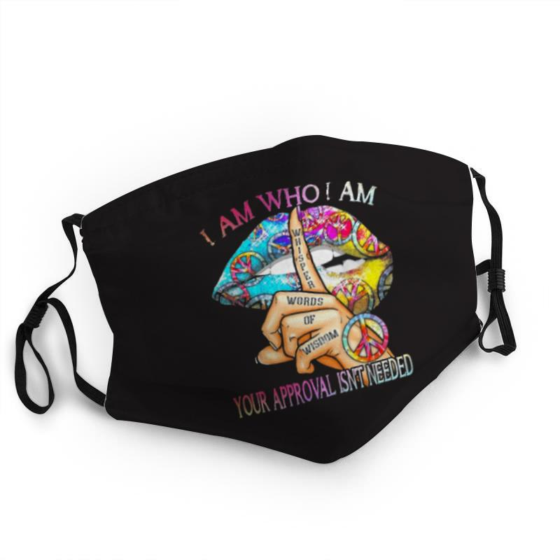 Hippie sexy lips i am who i am anti-dust face mask 1