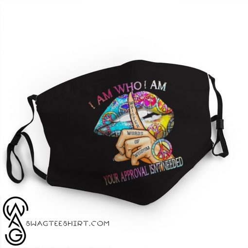 Hippie sexy lips i am who i am anti-dust face mask