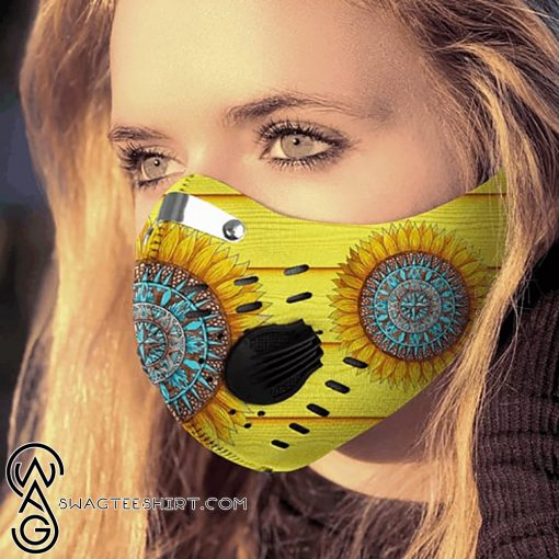 Hippie sunflower filter carbon pm 2,5 face mask