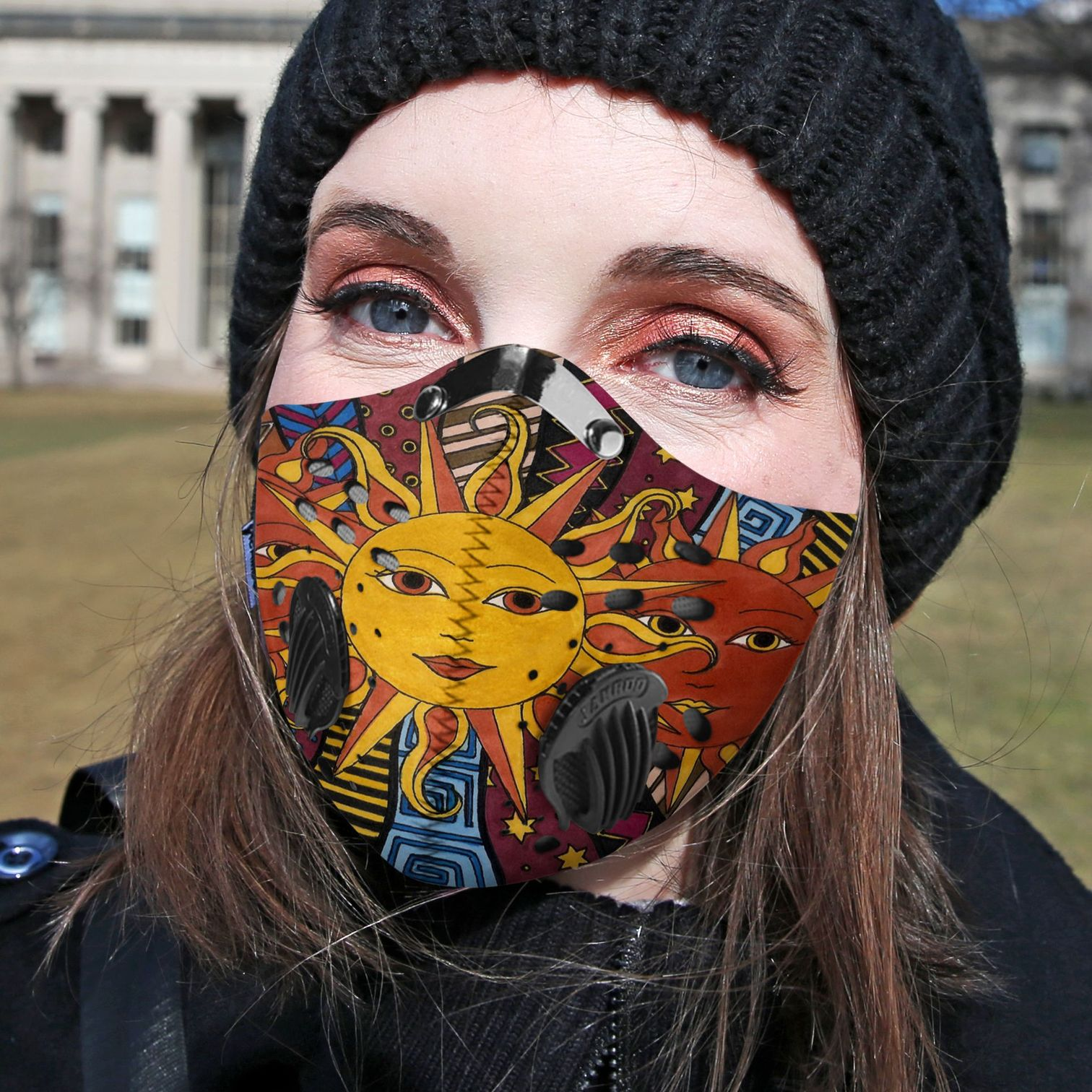 Hippie the sun carbon pm 2,5 face mask 1