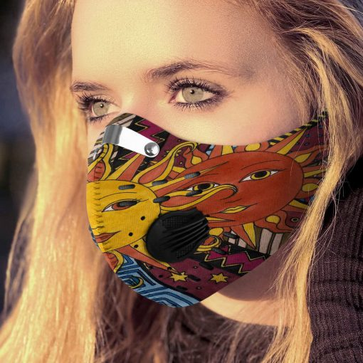 Hippie the sun carbon pm 2,5 face mask 2