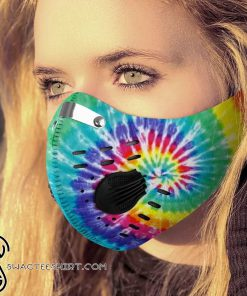 Hippie tie dye carbon pm 2,5 face mask