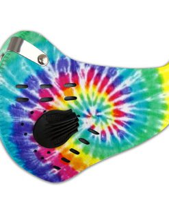 Hippie tie dye carbon pm 2,5 face mask 4
