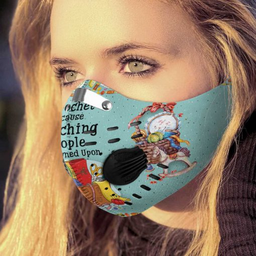 I crochet because punching is frowned upon carbon pm 2,5 face mask 2