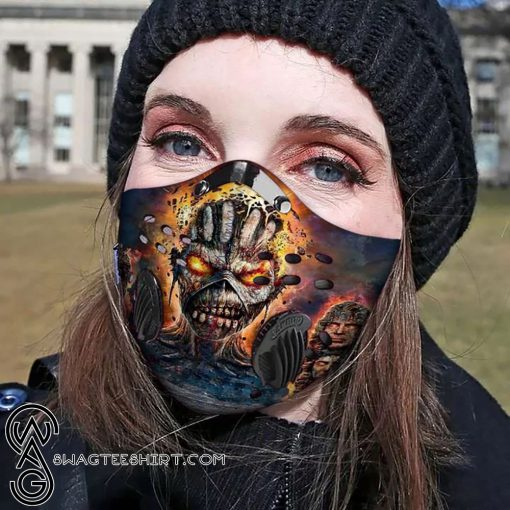 Iron maiden skull carbon pm 2,5 face mask