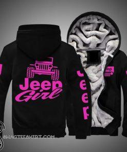 Jeep girl full printing fleece hoodie
