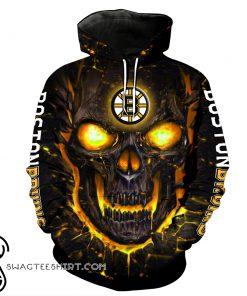 Lava skull boston bruins full over printed shirt