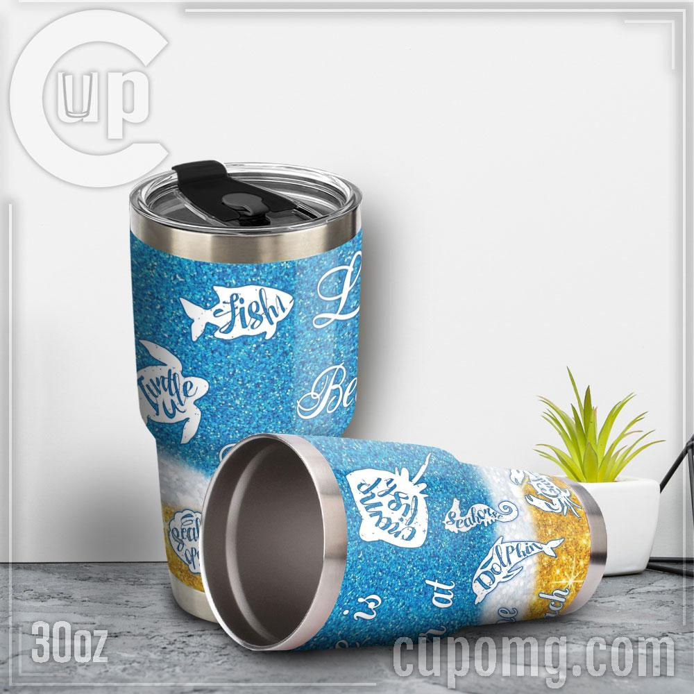 Life is better at the beach steel tumbler 2