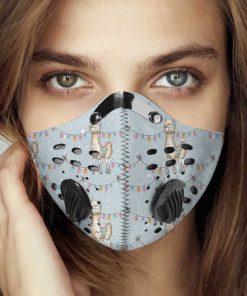 Llama alpaca carbon pm 2,5 face mask 2