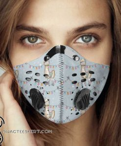 Llama alpaca carbon pm 2,5 face mask
