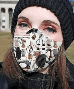 Love quilting carbon pm 2,5 face mask 1