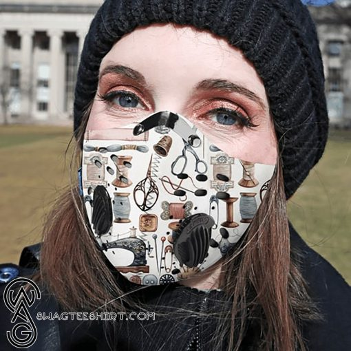 Love quilting carbon pm 2,5 face mask