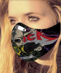 Metallica covid-19 pandemic carbon pm 2,5 face mask 1