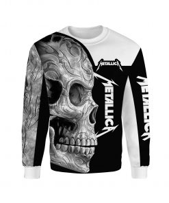 Metallica sugar skull full over print sweatshirt