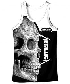 Metallica sugar skull full over print tank top