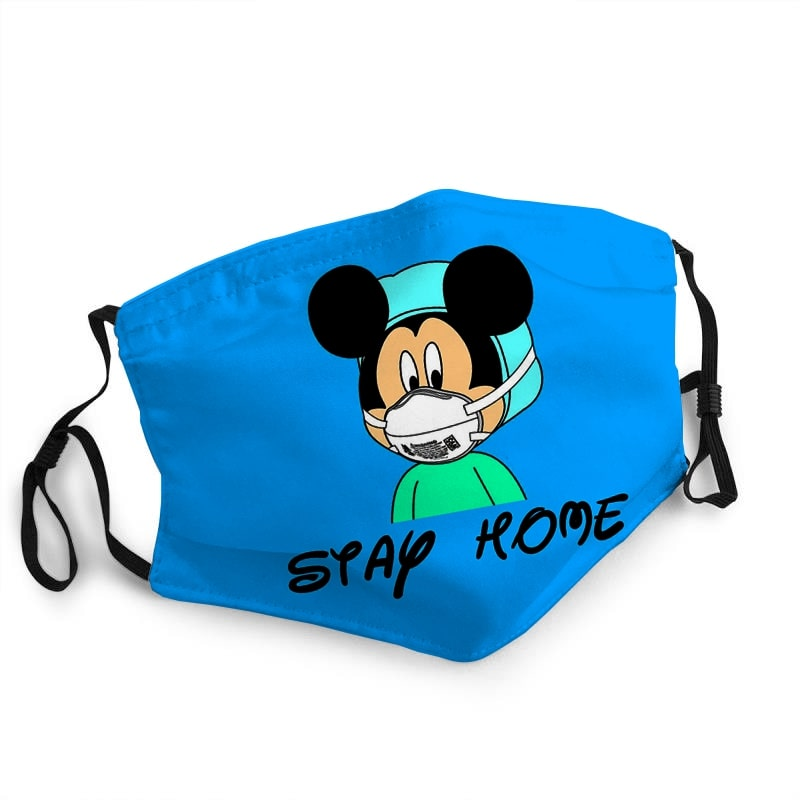 Mickey mouse stay home quarantine coronavirus anti-dust face mask 2