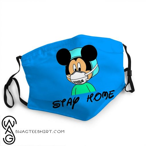 Mickey mouse stay home quarantine coronavirus anti-dust face mask