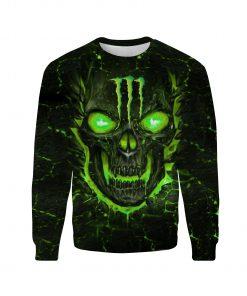 Monster energy lava skull full over print sweatshirt