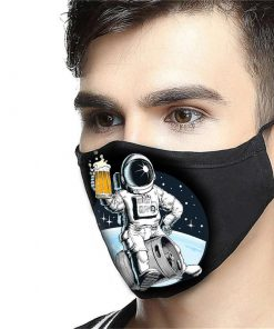 NASA astronaut and beer anti-dust cotton face mask 1