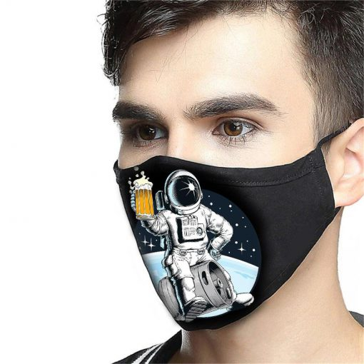 NASA astronaut and beer anti-dust cotton face mask 3