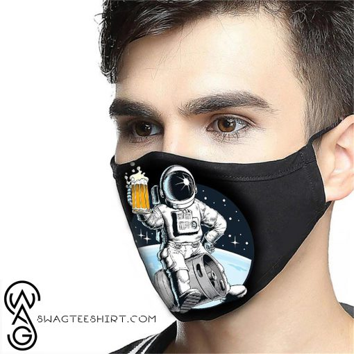 NASA astronaut and beer anti-dust cotton face mask