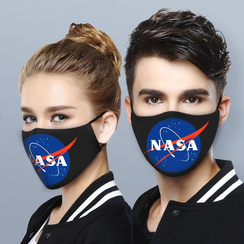 NASA logo anti-dust cotton face mask 1