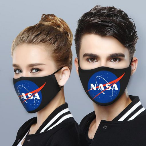NASA logo anti-dust cotton face mask 2