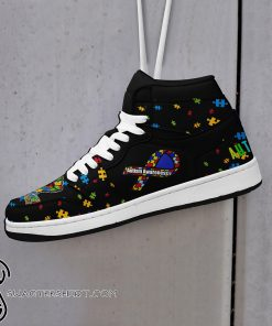 Nation autism awareness high top shoes